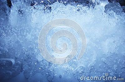 De blauwe textuur van het ijs