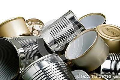 De blikken van het tin voor recycling