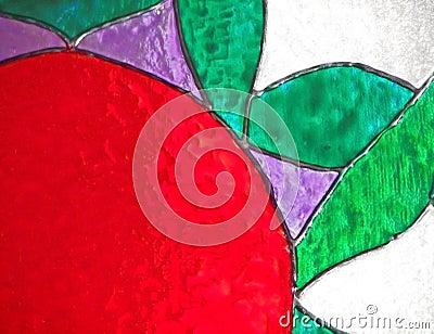 De bloem van het gebrandschilderd glas