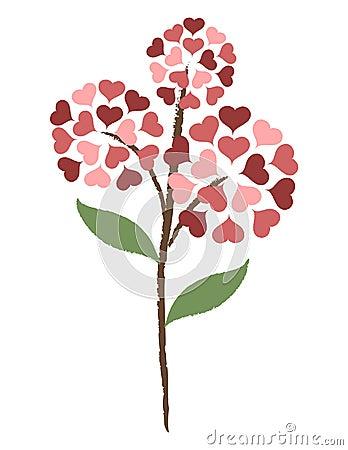 De bloem van het hart