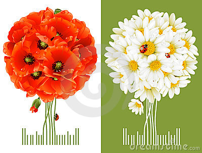 De bloemen Kaarten van de Groet
