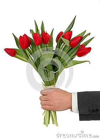 De Bloemen van de Holding van de hand