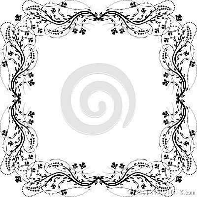 De bloemen van het frame