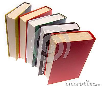 De boeken die door een stapel worden gecombineerd