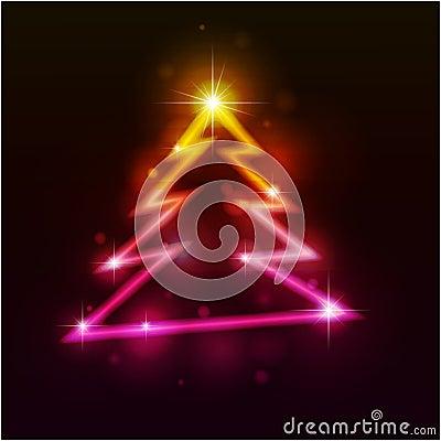 De bont-boom van Kerstmis