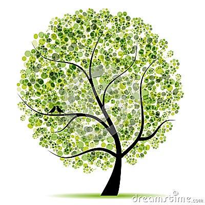 De boom van de kunst mooi voor uw ontwerp royalty vrije stock afbeelding beeld 14868836 - Boom ontwerp ...