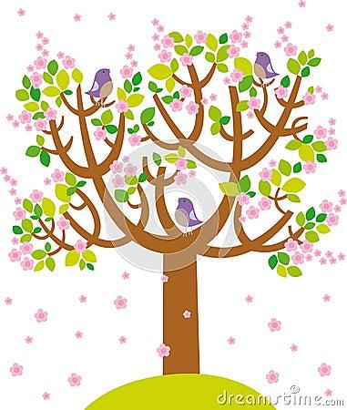 De boom van de lente royalty vrije stock foto s