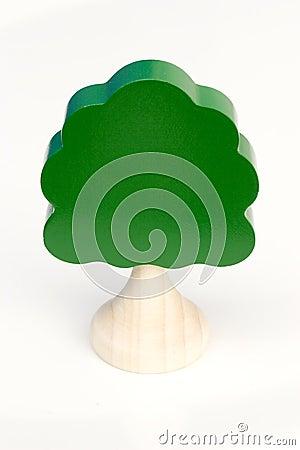 De boom van het stuk speelgoed
