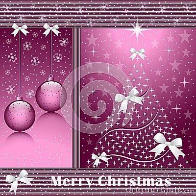 De boom van Kerstmis, ballen en bogen
