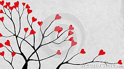De boomclose-up van Valentine stock footage