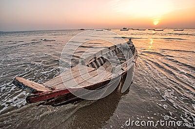De boot van de visser