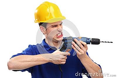 De boring van de bouwer