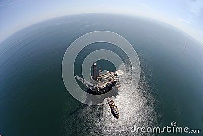De boringsinstallatie van de olie