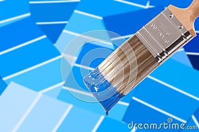 De borstel van de verf blauw royalty vrije stock fotografie beeld 15600927 - Kleuren die zich vermengen met de blauwe ...