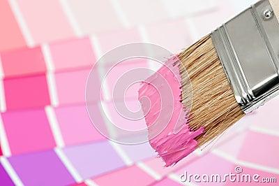 De borstel van de verf roze stock afbeeldingen beeld 15412254 - Hoe roze verf ...