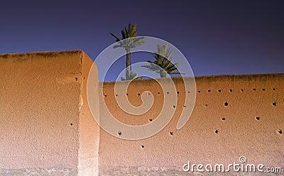 De borstwering van Marokko Marrakech