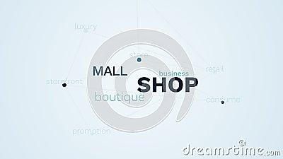 De boutique de van de bedrijfs winkelwandelgalerij kleinhandels commerciële opslag verbruikt storefront de wolkenachtergrond van  vector illustratie