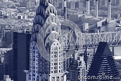 De bouw van Chrysler Redactionele Fotografie