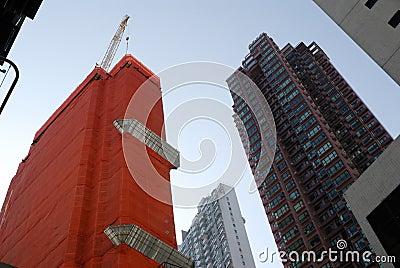 De bouw van de stad
