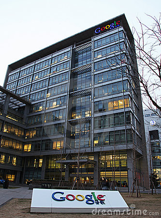 De bouw van het Bureau van Peking van Google Redactionele Stock Foto
