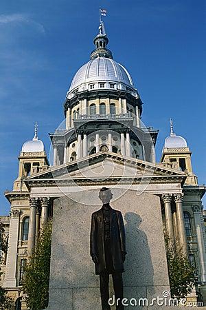 De Bouw van het Capitool van de Staat van Illinois