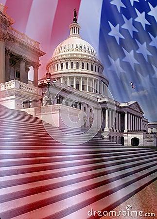 De Bouw van het Capitool - Washington DC