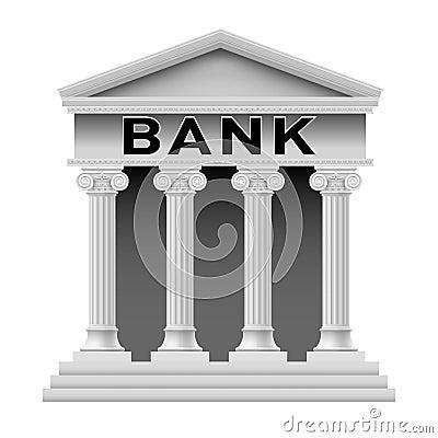 De bouwsymbool van de bank