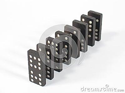 De Bovenkant van de Rij van de domino