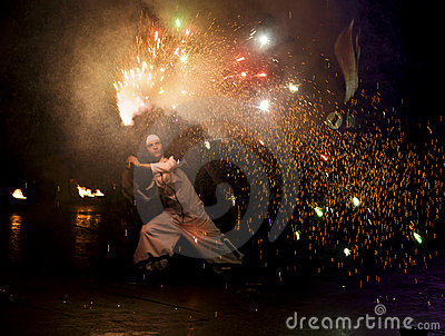 De Brand Fest 2011 van Kiev Redactionele Fotografie