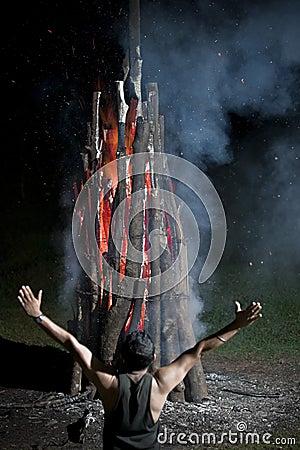 De brand van Worshiping