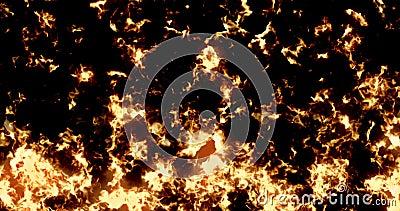 De brandwond van de het patroontextuur van echte, brandvlammen op zwarte achtergrond, gevaarlijke vlam vector illustratie
