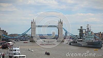 De Brug Londen van de toren stock video