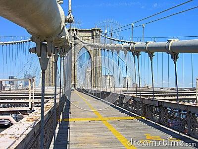 De Brug van Brooklyn, NY Stad