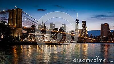 De Brug van Brooklyn timelapse - deel 2 stock videobeelden