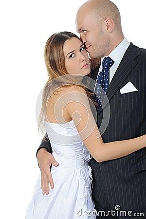 De bruid en de bruidegom van de elegantie