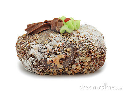 """De cake """"Aardappel van de room met room"""", geïsoleerdo"""