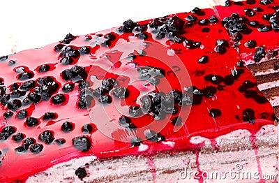 De cake van de bosbes