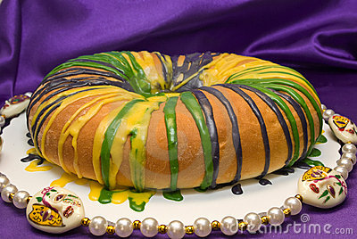 De Cake van de Koning van Gras van Mardi