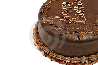 De Cake van de verjaardag - Chocolade