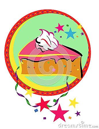 De cake van de viering