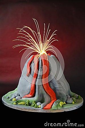 De cake van de vulkaan