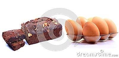 De cake van het ei
