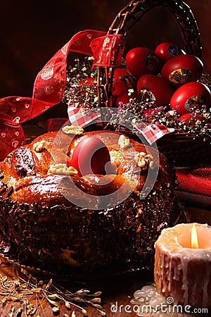 De cake van Pasen.