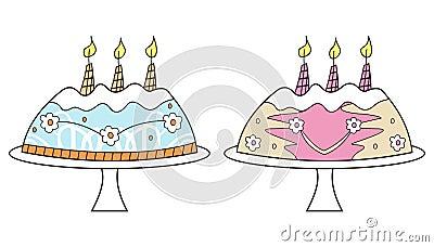De cakes van de verjaardag