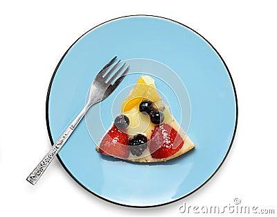 De cakestuk van het fruit