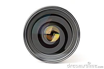 De cameralens van de foto