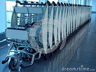 De carrier van de bagage apparaat.