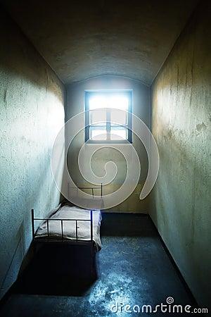 De cel van de gevangenis