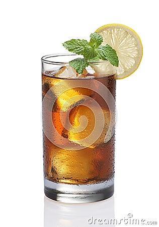 De citroenthee van het ijs