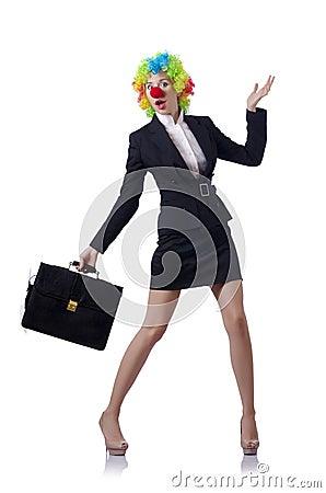 De clown van de vrouw